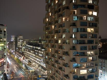 Une tour en béton signée OMA à Stockholm