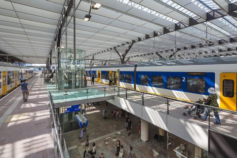 Verre, aluminium, béton et bois pour la gare de Rotterdam-Central