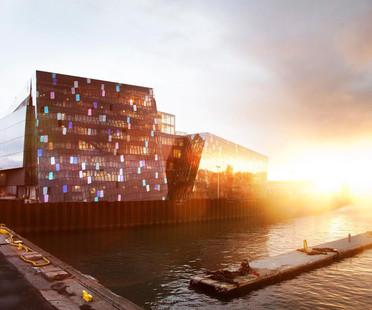 Une façade 3D en verre et en acier pour l'Harpa de Reykjavik
