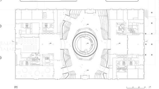 Sphère en polycarbonate pour la bibliothèque Binhai de MVRDV