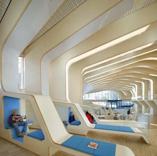 Bibliothèque en bois lamellé-collé signée Helen & Hard architects à Vennesla