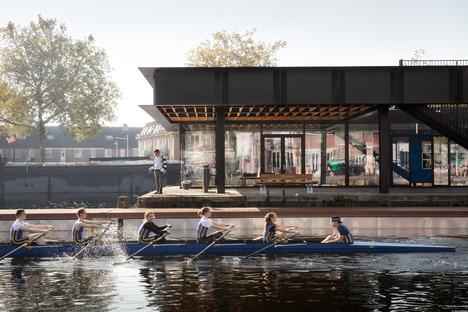 CIVIC réalise à Tilbourg un pavillon en acier à poutres Vierendeel