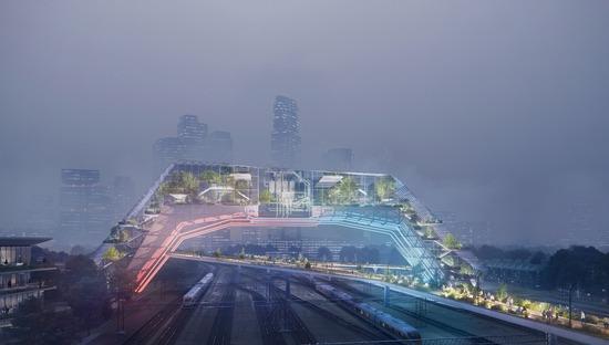 Une cathédrale géothermique pour la Socio-Technical City du futur signée UNSTudio