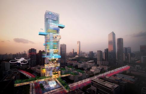 Les vertiports de la ville du futur selon MVRDV