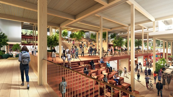 Le cabinet BIG signe un projet de centre pour les étudiants en bois et en verre pour l'université Johns-Hopkins
