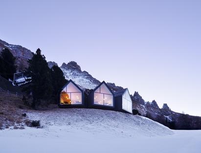 L'Oberholz : le refuge en béton et en bois de Peter Pichler