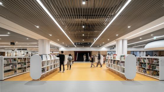 Structure en acier pour la bibliothèque de Tainan signée Mecanoo