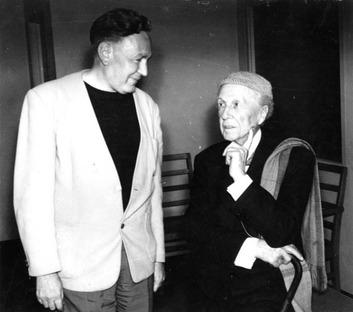 Bruce Goff and Frank Lloyd Wright, Courtesy of Goff Archive, Ryerson & Burnham